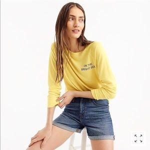 J. Crew On The Bright Side Sweatshirt S